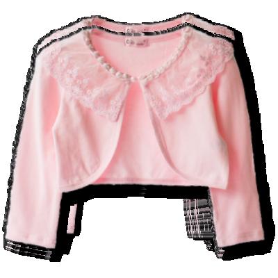 Βρεφικό παιδικό ροζ μπολερό με δαντέλα