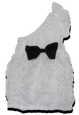 Φόρεμα βρεφικό παιδικό τριαντάφυλλα με έναν ώμο
