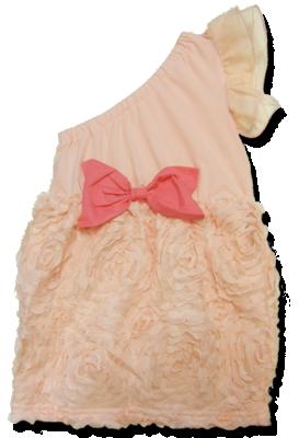Βρεφικό παιδικό φόρεμα τριαντάφυλλα ροζ