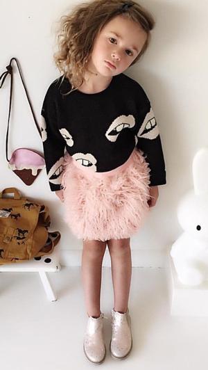 Βρεφική παιδική μπουκλέ ροζ φούστα