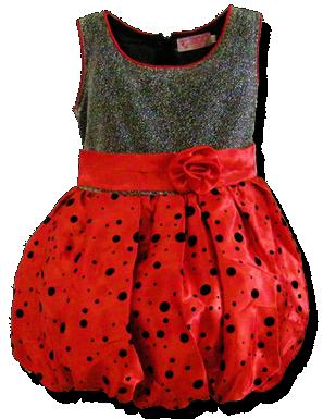 Βρεφικό παιδικό φόρεμα ballon κόκκινο ασημί