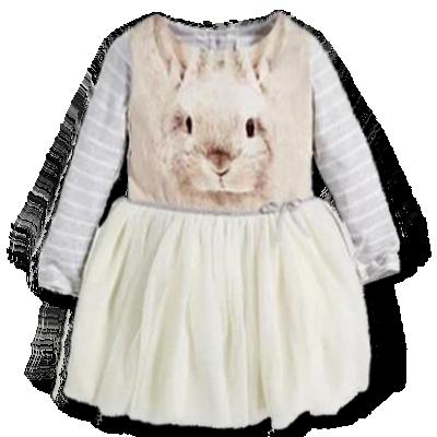 Βρεφικό παιδικό φόρεμα κουνελάκι