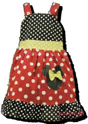 Βρεφικό παιδικό φόρεμα Μίνι Μάους