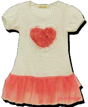 Βρεφικό παιδικό μπλουζοφόρεμα καρδούλα