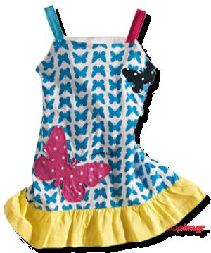 Βρεφικό παιδικό φόρεμα Ελληνικής κατασκευής γαλάζιο κίτρινο