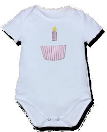 Βρεφικό φορμάκι για τα πρώτα της γενέθλια