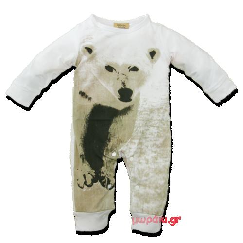 Βρεφικό ολόσωμο φορμάκι ζωάκι Αρκούδα
