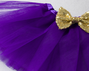 Βρεφικό φορμάκι 2st Birthday με μοβ τούλινο φουστάκι και κορδέλα