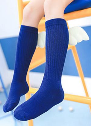 Κάλτσες μπλε βαμβακερές με ιβουάρ φτερά αγγέλων