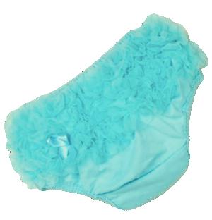 Βρεφικό κάλυμμα πάνας σιφόν γαλάζιο με φιογκάκι