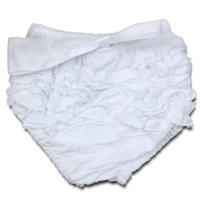 Βρεφικό κάλυμμα πάνας λευκό με κορδέλα