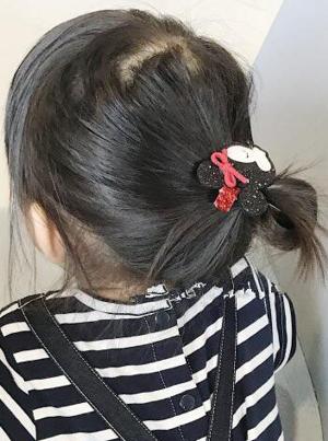 Βρεφικό παιδικό Κλιπ μαλλιών Μίνι Μάους φελτ γκλίτερ και Μίκι Μάους