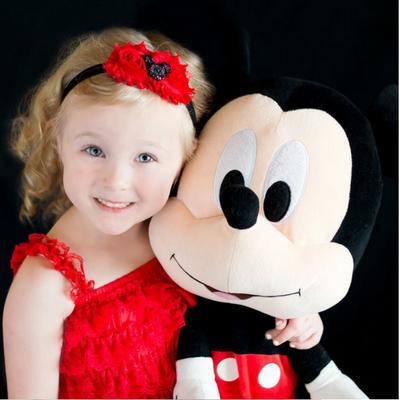 Βρεφική παιδική κορδέλα μαλλιών Μίκυ μαύρη κόκκινη