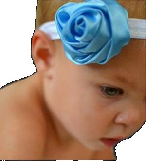 Βρεφική παιδική κορδέλα μαλλιών με σατέν λουλούδι