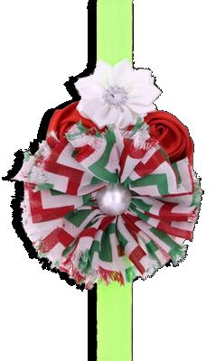 Βρεφική κορδέλα μαλλιών λαχανί με λουλούδια