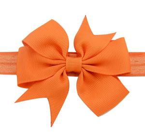 Βρεφική παιδική κορδέλα μαλλιών φιογκάκι πορτοκαλί