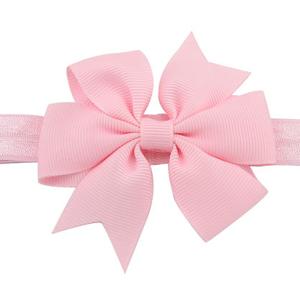 Βρεφική παιδική κορδέλα μαλλιών με φιογκάκι baby pink