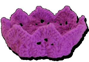 Βρεφική πλεκτή κορώνα μοβ