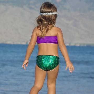 Μαγιό παιδικό μοβ πράσινο