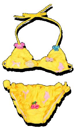 Βρεφικό παιδικό μαγιό μπικίνι κίτρινο