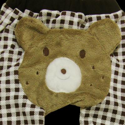 Βρεφικό παντελόνι καρό καφέ με αρκουδάκι