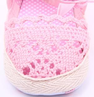 Βρεφικές εσπαντρίγιες ροζ δαντέλα