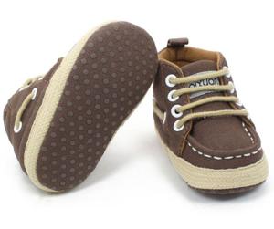 Βρεφικά παπούτσια αγκαλιάς καφέ