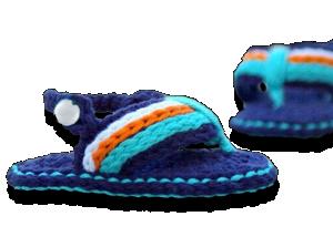 Βρεφικά πλεκτά σανδάλια μπλε