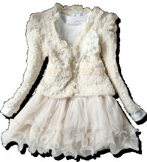 Βρεφικό παιδικό σετ φόρεμα με μπολερό