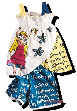 Βρεφικό παιδικό τιραντέ μπλουζάκι με σορτσάκι