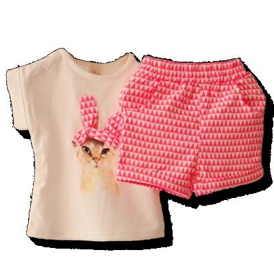 Βρεφικό παιδικό σετ Γατούλα μπλουζάκι με σορτσάκι