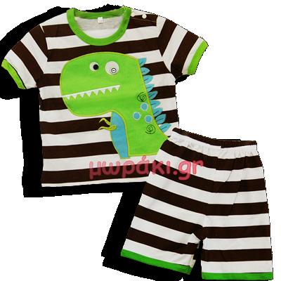Βρεφικό σετάκι μπλουζάκι σορτσάκι Δεινοσαυράκι
