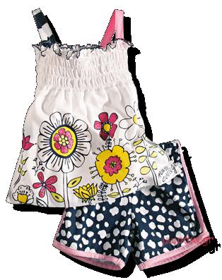 Βρεφικό παιδικό σετ τιραντέ μπλουζάκι και σορτσάκι