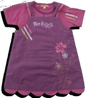 Βρεφικό σετ φόρεμα μοβ με μπλουζάκι