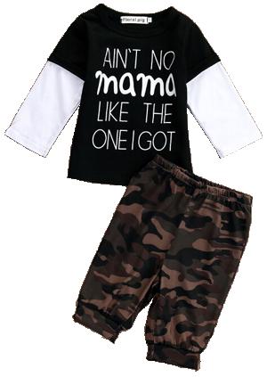Βρεφικό σετ παραλλαγής μπλουζάκι παντελόνι