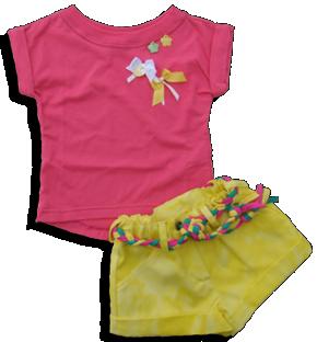 Σετ βρεφικό παιδικό φούξια αμάνικο με σορτσάκι