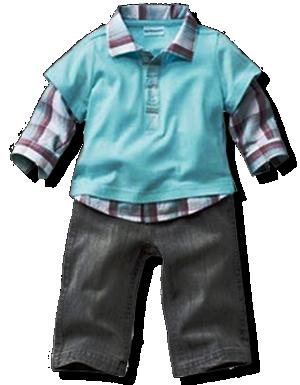 Βρεφικό σετ παντελόνι μαύρο και μπλουζάκι γαλάζιο