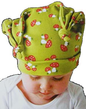 Βρεφικό σκουφάκι πράσινο μανιτάρια