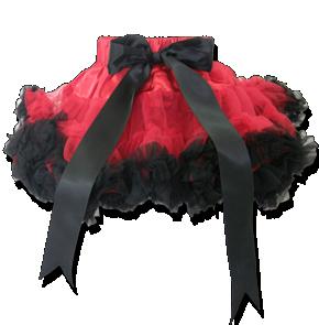 Φούστα τουτού κόκκινη μαύρη