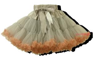 Βρεφική φούστα τουτού ασημί γκρι σομόν