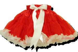 Βρεφική φούστα τουτού κόκκινη λευκή