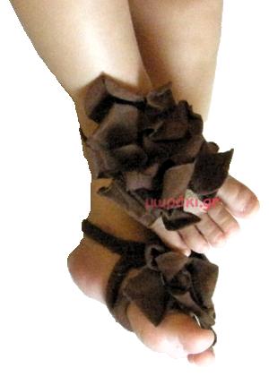 Βρεφικά σανδάλια αγκαλιάς υφασμάτινα καφέ λουλούδια