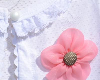 Βρεφικό παιδικό μπολερό εκρού με λουλούδι