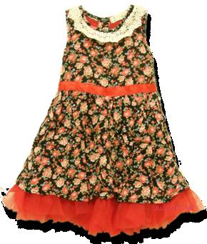 Βρεφικό αμάνικο φόρεμα φλοράλ