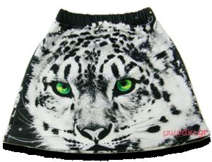 Βρεφική παιδική φούστα Λευκή Τίγρης