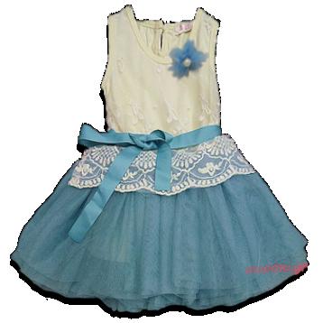 Βρεφικό παιδικό φόρεμα σαμπανί γαλάζιο