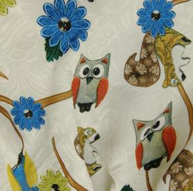 Βρεφικό παιδικό φόρεμα μπροκάρ ζωάκια του δάσους