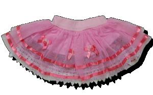 Βρεφική παιδική φούστα ροζ με δαντέλα