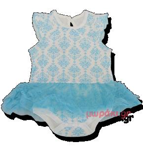 Βρεφικό φορμάκι γαλάζιο λευκό