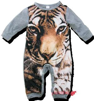 Βρεφικό ολόσωμο φορμάκι τίγρης
